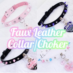 Build-Your-Own Faux Leather collar/choker